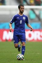 SALVADOR, BRAZIL - JUNE 25:  Miralem Pjanic of Bosnia and Herzegovina controls the ball during the 2014 FIFA World Cup Brazil Group F match between Bosnia and Herzegovina and Iran at Arena Fonte Nova on June 25, 2014 in Salvador, Brazil.  (Photo by Felipe Oliveir/Getty Images)