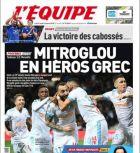 """Φάτσα-φόρα στο πρωτοσέλιδο της """"Equipe"""" ο... ήρωας Μήτρογλου"""