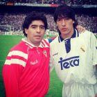 Μαραντόνα και Σαμοράνο έπειτα από ματς της Σεβίγια με τη Ρεάλ Μαδρίτης.