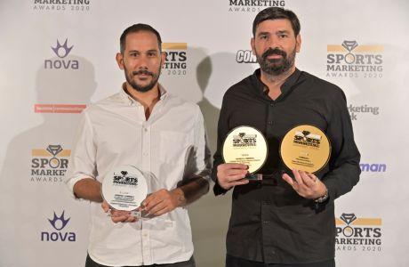 Ο Marketing Director της 24MEDIA, Γρηγόρης Μπάτης, και ο Editorial Director του Sport24.gr, Παντελής Βλαχόπουλος