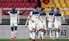 Οι ποδοσφαιριστές της Αταλάντα πανηγυρίζουν το 7-2 στην έδρα της Λέτσε