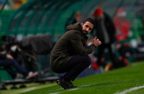 Ο προπονητής της Σπόρτινγκ, Ρούμπεν Αμορίμ, σε στιγμιότυπο της αναμέτρησης με την Μπενφίκα για την Primeira Liga 2020-2021 στο 'Ζοζέ Αλβαλάδε', Λισαβόνα   Δευτέρα 1 Φεβρουαρίου 2021