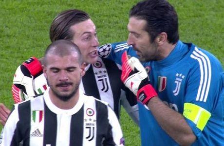 Τα έριξε και σε συμπαίκτη του για το γκολ που δέχτηκε ο Μπουφόν!