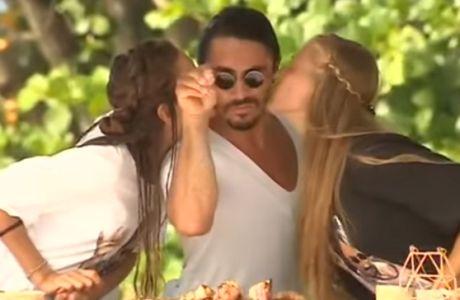Survivor: Τα καυτά φιλιά στον Τούρκο σεφ