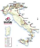 Η διαδρομή του 103ου Γύρου Ιταλίας.
