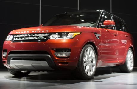 The 2014 Range Rover Sport is unveiled during the 2013 New York International Auto Show at the Jacob K. Javits Convention Center, Wednesday, March 27, 2013, in New York. (AP Photo/John Minchillo)