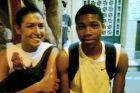 17-year-old Giannis Antetokounmpo with Filathlitikos' Aggeliki Katsini, in 2011