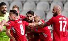 Ο Ζόρντι Γκόμεθ της Ομόνοιας πανηγυρίζει γκολ που σημείωσε κόντρα στην Αϊντχόφεν για τη φάση των ομίλων του Europa League 2020-2021 στο ΓΣΠ, Λευκωσία | Πέμπτη 29 Οκτωβρίου 2020