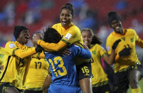 H εθνική γυναικών της Τζαμάικα πανηγυρίζει