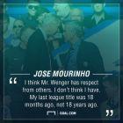 Η απόλυτα unfair δήλωση του Μουρίνιο για τον Βενγκέρ!