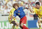 Ο Κάρλος Βαλντεράμα σε αγώνα της Κολομβίας με τη Ρουμανία στο Παγκόσμιο Κύπελλο του 1994