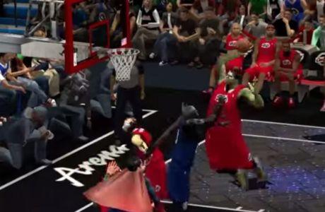Σούπερμαν και Μπάτμαν παίζουν μπάσκετ (VIDEOS)