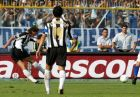 Juventus' Zlatan Ibrahimovic, left, of Sweden scores during the Italian first division soccer match against Brescia at the Brescia Mario Rigamonti stadium, Italy, Sunday, Sept. 12, 2004. Juventus won 3-0. (AP Photo/Felice Calabro')
