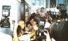 """Η άφιξη του Ρονάλντο στο αεροδρόμιο """"El Prat"""" της Βαρκελώνης στις 17 Αυγούστου 1996."""