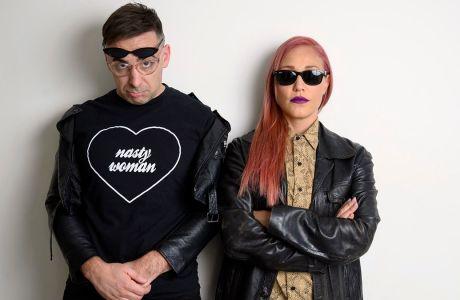 Ο Μάκης Παπασημακόπουλος και η Πηνελόπη Αναστασοπούλου, ραδιοφωνικοί παραγωγοί του Legend 88.6