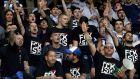 Οπαδοί της Λάτσιο χαιρετούν φασιστικά πριν από την αναμέτρηση με τη Νις για τη φάση των ομίλων του Europa League 2017-2018 στην 'Άλιαντς Ριβιέρα', Νίκαια   Πέμπτη 19 Οκτωβρίου 2017