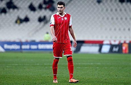 Ο Δημήτρης Μελιόπουλος σε στιγμιότυπο από την αναμέτρηση ΑΕΚ - Ξάνθη στο ΟΑΚΑ για την Super League, στις 2 Δεκεμβρίου του 2018