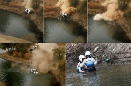 Ράλι Μεξικό: Έπεσαν στη λίμνη και σώθηκαν από θαύμα (VIDEO)