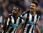 Newcastle United's Georginio Wijnaldum, left, celebrates his third  goal during their English Premier League soccer match between Newcastle United and  Norwich City at St James' Park, Newcastle, England, Sunday, Oct. 18, 2015. (AP Photo/Scott Heppell)
