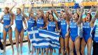Η Εθνική Ελλάδας πανηγυρίζει τη νίκη επί της Αυστραλίας στα ημιτελικά του τουρνουά πόλο στους Ολυμπιακούς Αγώνες 2004, Ολυμπιακό Κέντρο Υγρού Στίβου Αθηνών, Τρίτη 24 Αυγούστου 2004
