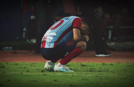 Ο Μπατσάνα Αραμπούλι του Πανιωνίου σε στιγμιότυπο του αγώνα με τον Παναθηναϊκό για τη Super League 1 2019-2020 στο γήπεδο της Νέας Σμύρνης, Κυριακή 29 Σεπτεμβρίου 2019