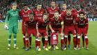 Liverpool players poses prior to the start of the Champions League group E soccer match between Liverpool and Sevilla at Anfield stadium in Liverpool, England, Wednesday, Sept. 13, 2017. (AP Photo/Frank Augstein)