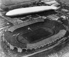 A Graf Zeppelin flying over Wembley Stadium in London, England on April 26, 1930, while the football cup final match between Huddersfield and Arsenal was in progress. (AP Photo)