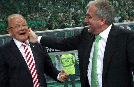 Ντούσαν Ίβκοβιτς και Ζέλικο Ομπράντοβιτς όταν ανταγωνίζονταν στο ελληνικό πρωτάθλημα