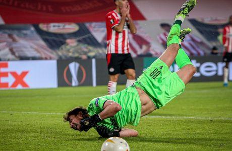 Ο ΠΑΟΚ προηγήθηκε στο 'Philips Stadion' αλλά δεν κατάφερε να αποφύγει την ήττα με 3-2 από την Αίντχόφεν, για την 4η αγ. των ομίλων του Europa League | 26/11/2020 (EUROKINISSI)