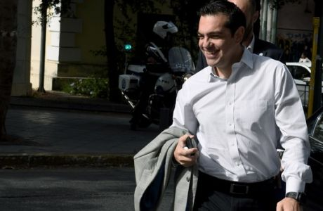 Συνεδρίαση της πολιτκκής Γραμματείας του ΣΥΡΙΖΑ,ο πρωθυπουργός και πρόεδρος του κόμματος Αλέξης Τσίπρας,Δευτέρα 30 οκτωβρίου 2017  (EUROKINISSI/Τατιάνα Μπόλαρη)