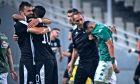 Οι παίκτες του ΟΦΗ πανηγυρίζουν τη νίκη 3-1 επί του Παναθηναϊκού για τη Super League 2019-2020 στο Ολυμπιακό Στάδιο, Σάββατο 31 Αυγούστου 2019