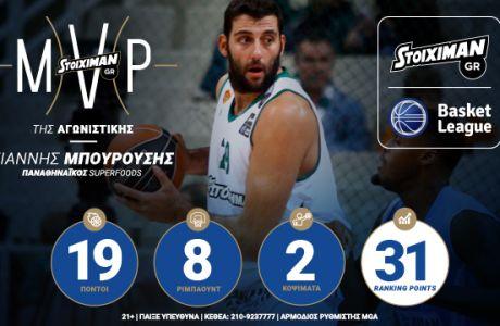 Stoiximan.gr MVP της 6ης αγωνιστικής o Γιάννης Μπουρούσης!