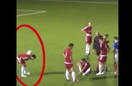 Ο συμπαίκτης του κάτω τραυματίας και εκείνος... κόλπα με τη μπάλα!