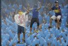 Fans of Argentina's Boca Juniors cheer during a Copa Libertadores first leg final soccer match against Argentina's River Plate in Buenos AIres, Argentina, Sunday, Nov. 11, 2018. (AP Photo/Natacha Pisarenko)