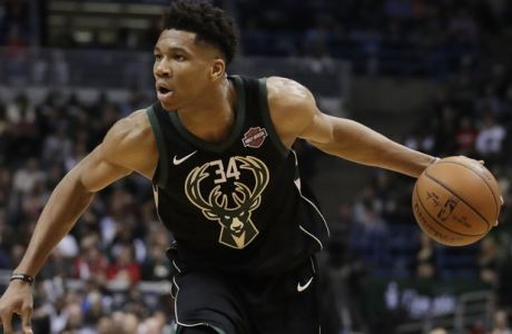 Milwaukee Bucks' Giannis Antetokounmpo drives during the second half of an NBA basketball game against the Houston Rockets Wednesday, March 7, 2018, in Milwaukee. (AP Photo/Morry Gash)