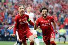 Χέντερσον και Σαλάχ πανηγυρίζουν το γκολ του Αιγύπτιου στον τελικό του Champions League του 2019.