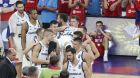 Slovenia's carry Slovenia's Luka Doncic, who was injured, after defeating Serbia in their Eurobasket European Basketball Championship final match in Istanbul, Sunday, Sept. 17. 2017. (AP Photo/Emrah Gurel)