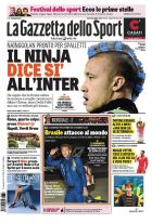 """Η """"Gazzetta dello Sport"""" έβαψε την μοϊκάνα του Ναϊνγκολάν στα χρώματα της νέας του ομάδας!"""