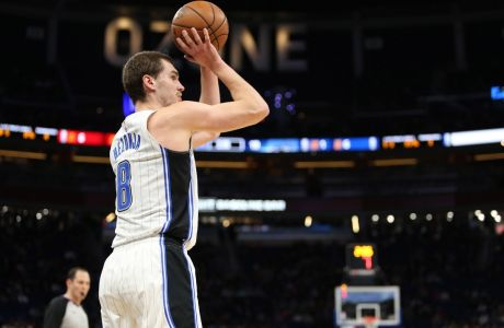 December 13, 2017 - Orlando, FL, USA - The Orlando Magic s Mario Hezonja shoots in the first half against the Los Angeles Clippers at the Amway Center in Orlando, Fla., on Wednesday, Dec. 13, 2017. LA Clippers at Orlando  - ZUMAm67_ 20171213_zaf_m67_006 Copyright: xRicardoxRamirezxBuxedax
