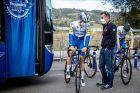Ο Βασίλης Αναστόπουλος και ο Ματία Κατανέο, την ημέρα του Ανγκλίρου στην περσινή Vuelta (1/11/2020).