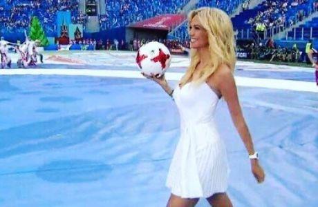 Η Ρωσίδα καλλονή που έκλεψε τις εντυπώσεις στο Confederations Cup