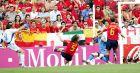 Ο Άγγελος Χαριστέας ισοφαρίζει το ματς με την Ισπανία (16/6/2004)