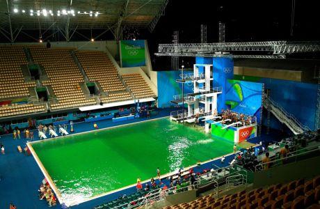 Γι' αυτό έγινε πράσινη η πισίνα καταδύσεων στο Ρίο