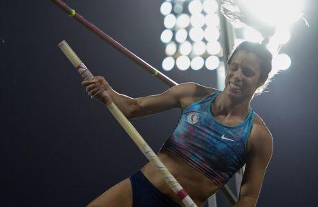 Ο Κατερίνα Στεφανίδη σε στιγμιότυπο από το Πανελλήνιο Πρωτάθλημα στίβου 2019 που διεξήχθη στην Πάτρα, Κυριακή 28 Ιουλίου 2019