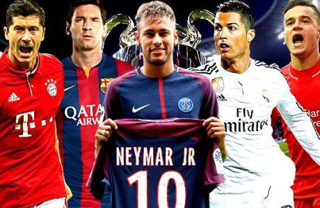 Οι νέες ενδεκάδες των φαβορί του Champions League