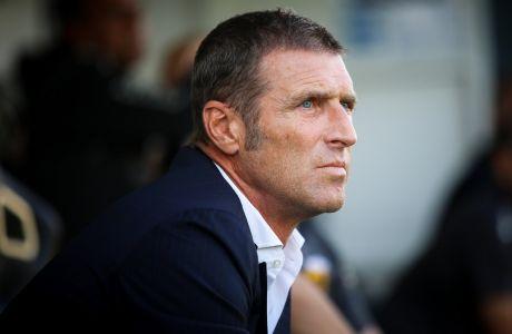 Ο προπονητής της ΑΕΚ, Μάσιμο Καρέρα, σε στιγμιότυπο της αναμέτρησης με τον ΟΦΗ για τα playoffs της Super League 1 2019-2020 στο 'Θεόδωρος Βαρδινογιάννης' | Κυριακή 14 Ιουνίου 2020