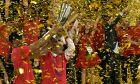 Ο Δημήτρης Ιτούδης πανηγυρίζει με το τρόπαιο της Euroleague 2018-2019, μετά από τη νίκη της ΤΣΣΚΑ επί της Αναντολού Εφές στον τελικό της 'Φερνάντο Μπουέσα Αρένα', Βιτόρια, Κυριακή 19 Μαΐου 2019