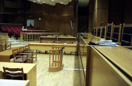 Η αίθουσα τελετών του Εφετείου Αθηνών,όπου από σήμερα θα διεξάγεται η δίκη των μελών της Χρυσής Αυγής, Δευτέρα 27 Ιουνίου 2016 (EUROKINISSI/ΤΑΤΙΑΝΑ ΜΠΟΛΑΡΗ)