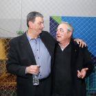 Με τον Ευθύμη  Κιουμουρτζόγλου. 'Ηταν οι προπονητές της Εθνικής Ομάδας που κατέκτησε το αργυρό μετάλλιο στο Ευρωμπάσκετ 89