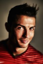 SAO PAULO, BRAZIL - JUNE 12:  ( EDITORS NOTE: IMAGE PROCESSED USING DIGITAL FILTERS.) Cristiano Ronaldo of Portugal poses during the official FIFA World Cup 2014 portrait session on June 12, 2014 in Sao Paulo, Brazil.  (Photo by Clive Mason - FIFA/FIFA via Getty Images)